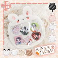 Cute Cat Rabbit Plush Ita Bag Lolita Girl Clear Shoulder Bag Handbag + Pendant