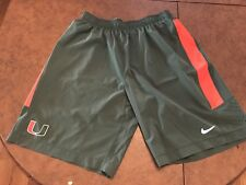 University Of Miami Hurricanes Nike Dri Fit Football Shorts Mens Large FL L