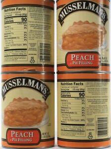 4 Count Musselman's Gluten Free Real Fruit Peach Pie Filling 21Oz BB 8-9-2022