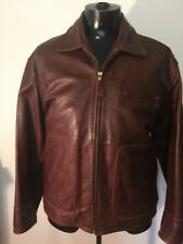 Vintage leather jacket Lee Trevor made in France! Large.