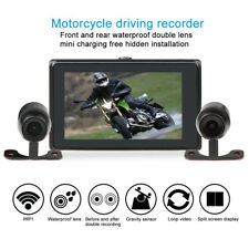 Motorcycle Car Driving Recorder Camera HD WIFI DVR Video Double Lens Dash Cam