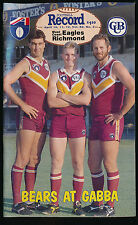 1993 AFL Football Record West Coast Eagles vs Richmond April 10 11 12