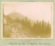France, Aiguille du Dru et Massif du Mont Blanc, ca.1900, vintage citrate print