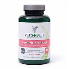 Vet's Best Bundle Immune Support 2 X 60 Chewable Tablets 2x60 Skin and Coat