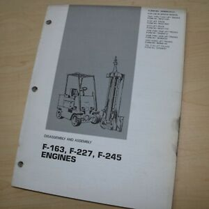 CATERPILLAR Lift Truck Forklift Engine Shop Service Repair Manual disassembly