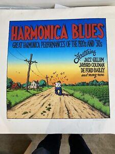R. Robert Crumb Harmonica Blues Screenprint Serigraph Signed/numbered