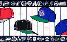 Baseball Caps Bats MLB All Teams Cardinals Giants Yankees Mets Wall paper Border
