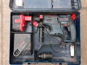 Bosch GBH 24V sds hammer drill complete with adjustable