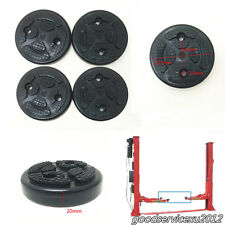 4 Pcs Black Round 115mm*20mm Round Rubber Arm Pads For Car SUV Lift Accessories
