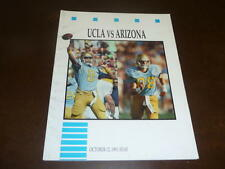 1991 UNIVERSITY OF ARIZONA AT UCLA COLLEGE FOOTBALL PROGRAM EX-MINT