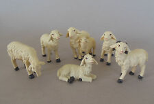 Schaf Schafe  6- tlg. für Krippenfiguren  11-12 cm  h = 3 - 5 cm, Nr. OK 2 mtl.