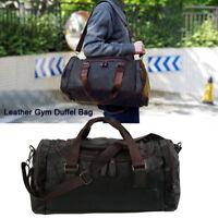 Bag Leather Duffle Travel Men Gym Luggage Genuine Overnight Mens Vintage Holdall