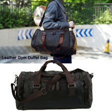 Bag Leather Duffle Travel Men Gym Luggage Genuine Overnight Mens Vintage Holdall
