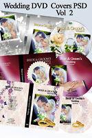 Wedding Digital DVD Covers Labels Photoshop Templates PSD vol 2
