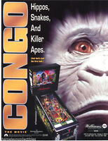 Williams CONGO Original 1995 NOS Flipper Arcade Pinball Machine Promo Flyer NM