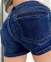 American Eagle AE Low Rise Womens Denim blue Jean Shorts size 4