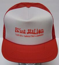 Vtg 1990s THE PAINT STATION Topeka Manhattan Lawrence SNAPBACK TRUCKER HAT CAP
