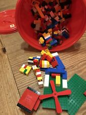 BOX OF LEGOS AND TYCO BRICKS BUILDING TOYS EUC