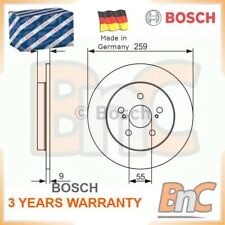 2x BOSCH REAR BRAKE DISC SET FOR SUBARU FOR LEXUS TOYOTA OEM 0986479721 1421540