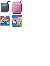 VTech InnoTab Bundle Storage Tote Case Pink And Blue Hello Kitty/Turbo Software