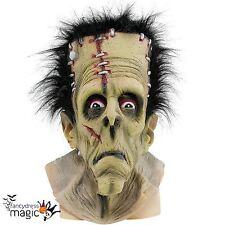 Adult Mens Frankenstein Green Monster Halloween Fancy Dress Costume Horror Mask