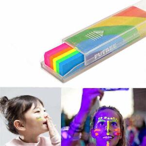 Rainbow Body Crayon Art Face Paint Makeup for Carnival Color Run Mardi Gras