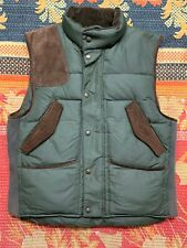 Polo Ralph Lauren Equestrian Sportsman Down Vest Sude Trim & Patches VTG Hi Tech