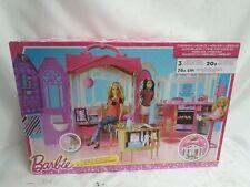 Barbie Glam Ferienhaus Mattel Puppenhaus 3 Zimmer + Zubehör Neu