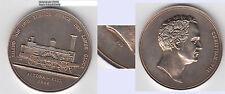 """Lokomotive Altona Kiel Christ. VIII. v. Dänemark Medaille 20. Jh. (= """"925"""" )"""
