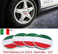 4X Italy Italian Flag Auto Wheel Center Hub Caps Sticker Emblems FIAT 56mm