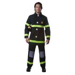 Adult Fire Fighter - Black Costume Fancy Dress Set