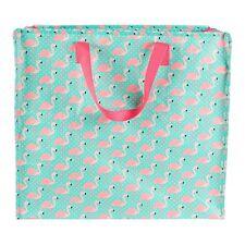Large Flamingo Storage Laundry Shopping Bag Zip Home Kids Room Gift Toy