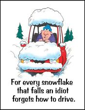 METAL FRIDGE MAGNET Every Snowflake Idiot Forgets How Drive Friend Family Humor