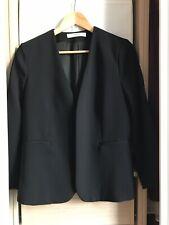 MANGO veste tailleur noire manches «raccourcies» sans col état neuf taille M