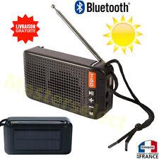 Poste radio FM bluetooth USB et lecteur miniSD Solaire rechargeable au soleil