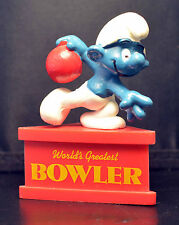 Smurf-A-Gram Smurf On Stand WORLD'S GREATEST BOWLER SCHLEIGH PEYO