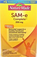 Nature Made SAM-e Complete 200mg Healthy Mood & Joint Comfort 24 Coated Tablets