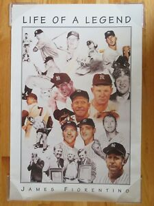 "1997 MICKEY MANTLE No. 7 NEW YORK YANKEES ""Life of a Legend"" Poster"