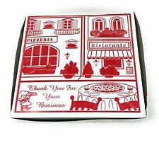 """Square Stock Printed Pizza Box 12"""" L x 12"""" W x 2"""" D Clay Coated 