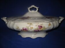 Antique English Ceramic Tureen  Floral