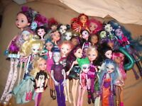 HUGE Monster High & Ever after doll lot- 8+ lbs nice w/accessories