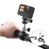 Metal Bike Motorcycle Handlebar Mount Clamp with Adapter for Gopro Hero 9 Camera