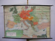 Schulwandkarte Wandkarte Imperialismus Großdeutschland Krieg 139x95cm ~1955 DR