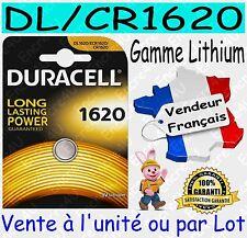 Piles DURACELL CR1620 DL1620 - Dispo aussi : CR2016 CR2025 CR2032 CR2430 CR2450