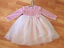 Baby Toddler Girls Pink Christmas Party Pageant Dress Sz 4