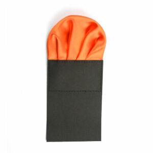 Men Satin Pre Folded Hanky Pocket Square Plain Wedding Party Solid Handkerchief