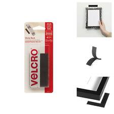 Black Velcro Sticky Strips Back Waterproof Office Home DIY Tape Tool Pack of 4