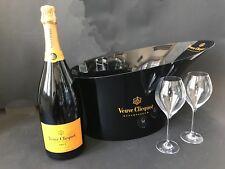 Veuve Clicquot Brut Champagner Flasche 1,5l 12% Vol + Magnum Kühler + 2 Gläser