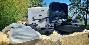 DJI Alpine White Spark Fly More Kit - 3 Batteries - Controller - Multi Charger!