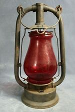 Feuerhand No 223 German DRGM Hot Blast Lantern with Ruby Red Globe